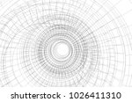 abstract architecture vector 3d ... | Shutterstock .eps vector #1026411310