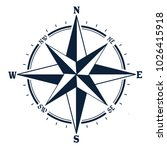 compass icon on white... | Shutterstock .eps vector #1026415918