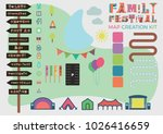 festival map building kit... | Shutterstock .eps vector #1026416659