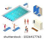 isometric vector set of... | Shutterstock .eps vector #1026417763
