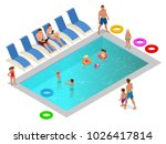 isometric family enjoying... | Shutterstock .eps vector #1026417814