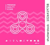 tri spinner icon | Shutterstock .eps vector #1026419758