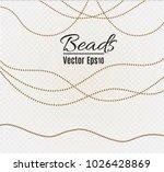 a beautiful chain of golden... | Shutterstock .eps vector #1026428869