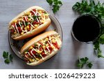 Hot Dog With Vegetables And...