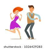 couple dancing. dance party... | Shutterstock .eps vector #1026429283