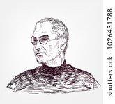 steve jobs  vector sketch... | Shutterstock .eps vector #1026431788