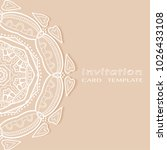 invitation or card template... | Shutterstock .eps vector #1026433108