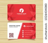 red geometric business card... | Shutterstock .eps vector #1026434080
