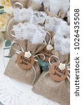 wedding favors and decoration  | Shutterstock . vector #1026435508