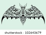 bat decorative ornament. animal ... | Shutterstock .eps vector #102643679