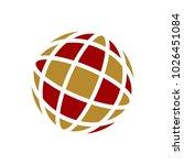 globe vector logo. universe or...   Shutterstock .eps vector #1026451084