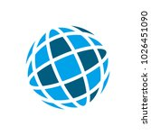 globe vector logo. universe or... | Shutterstock .eps vector #1026451090