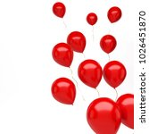 red baloons on the right sight... | Shutterstock . vector #1026451870