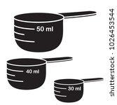 measure cups. vector set | Shutterstock .eps vector #1026453544