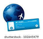 air ticket with planet and... | Shutterstock .eps vector #102645479