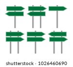 blank traffic road sign set ... | Shutterstock .eps vector #1026460690