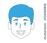 man smiling cartoon | Shutterstock .eps vector #1026460846