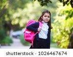 portrait of a schoolgirl girl | Shutterstock . vector #1026467674