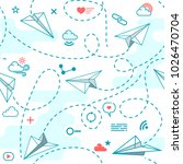 vector seamless pattern with... | Shutterstock .eps vector #1026470704
