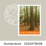 new hampshire postage stamp... | Shutterstock .eps vector #1026478438