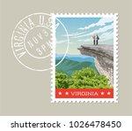 virginia postage stamp design.... | Shutterstock .eps vector #1026478450