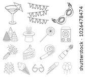 party  entertainment outline... | Shutterstock . vector #1026478474