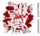 soccer player team composition... | Shutterstock .eps vector #1026479980