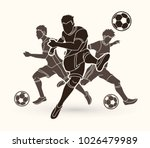 Three Soccer Player Team...