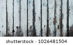 old cracked color wood plank... | Shutterstock . vector #1026481504