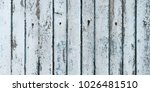 old cracked color wood plank... | Shutterstock . vector #1026481510