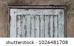 old wooden plank door with... | Shutterstock . vector #1026481708