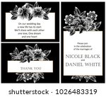 romantic invitation. wedding ... | Shutterstock . vector #1026483319