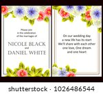 invitation with floral... | Shutterstock . vector #1026486544