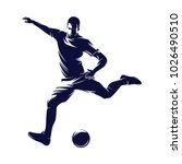 soccer and football player man... | Shutterstock .eps vector #1026490510