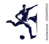 soccer and football player man... | Shutterstock .eps vector #1026490513