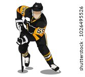 hockey logo badge with people   Shutterstock .eps vector #1026495526