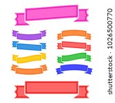 set of colored isolated banner... | Shutterstock .eps vector #1026500770