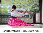 a daegeum paying  korean... | Shutterstock . vector #1026505738