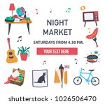 invitation poster to visit the... | Shutterstock .eps vector #1026506470