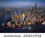 aerial shanghai lujiazui | Shutterstock . vector #1026515938