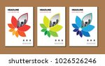 cover of a brochure or layout... | Shutterstock .eps vector #1026526246