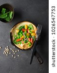 dutch baby pancake for... | Shutterstock . vector #1026547753
