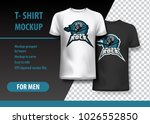 t shirt mock up with hard rock... | Shutterstock .eps vector #1026552850