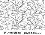 black and white geometric... | Shutterstock .eps vector #1026555130