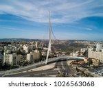 chords famous hanging bridge... | Shutterstock . vector #1026563068