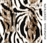 Seamless Pattern With Tiger Skin