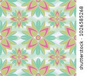 seamless floral pattern with... | Shutterstock .eps vector #1026585268