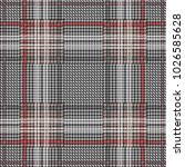 classical checkered hounds... | Shutterstock .eps vector #1026585628