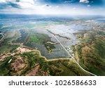 aerial photovoltaic panel scene ... | Shutterstock . vector #1026586633