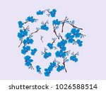 abstract orchid pattern. gentle ... | Shutterstock .eps vector #1026588514